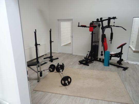 Unser Fitnessraum im Hone'n Hostel Elmshorn